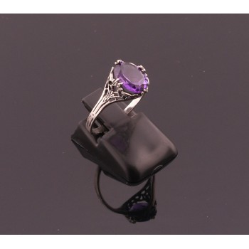 New Vintage Silver Amethyst Ring